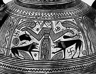 Boeotian vase painting with Artemis